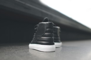 Filling Pieces Mountain Boot Alligator Embossed - Black