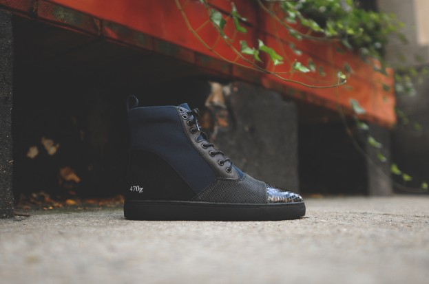 Gram Cupsole High 470G - Navy / Black